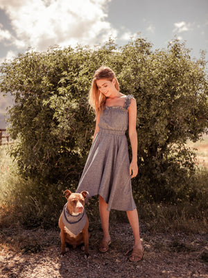 Load image into Gallery viewer, Dresses Vanna Hemp Midi Dress - VALANI sustainable, vegan, ethical women's clothing