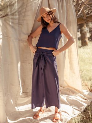 Load image into Gallery viewer, Bottoms Phalla Wide Leg Tencel Pants - VALANI sustainable, vegan, ethical women's clothing