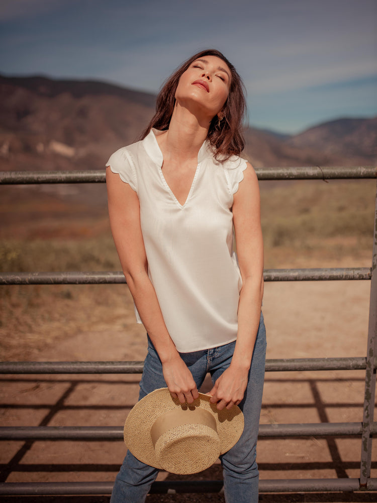 Tops Thavy Tencel Top - VALANI sustainable, vegan, ethical women's clothing