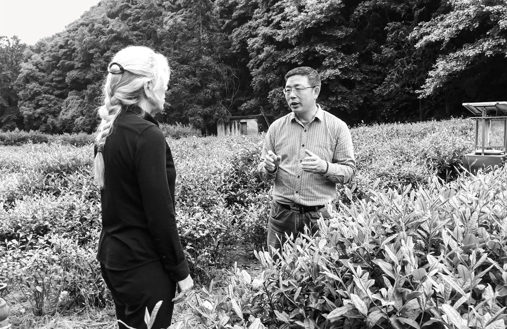Paula Bramel and Professor Liang Chen, curator of the world's largest collection of tea diversity