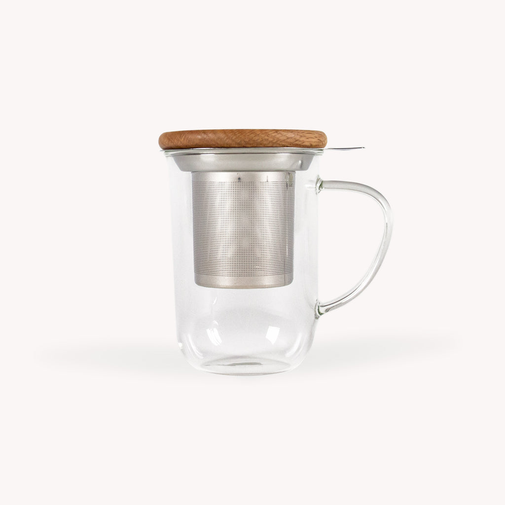minima balance glass tea mug 550ml