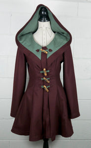 Storybook Coat - Maroon/Wine Red - Made to Order