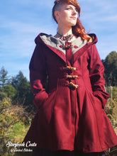 Load image into Gallery viewer, Storybook Coat - Maroon/Wine Red - Made to Order