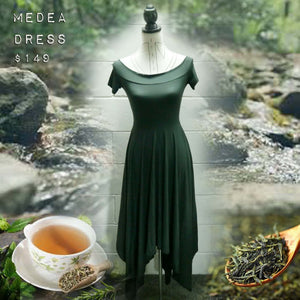 Medea Dress - Green Tease