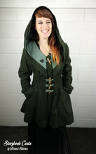 Load image into Gallery viewer, Storybook Coat - Deep Forest Green - Made to Order