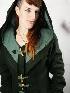 Storybook Coat - Deep Forest Green - Made to Order