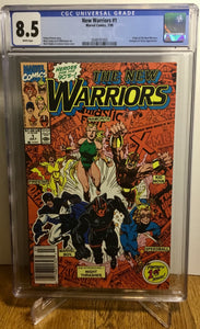 The New Warriors #1 1st Print CGC 8.5 Newsstand