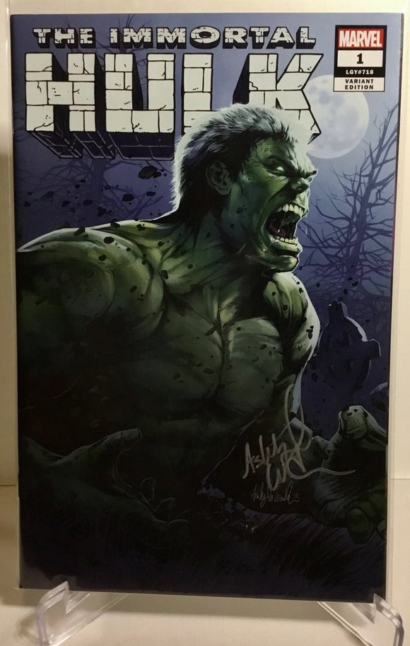 The Immortal Hulk signed by Ashley Marie Witter