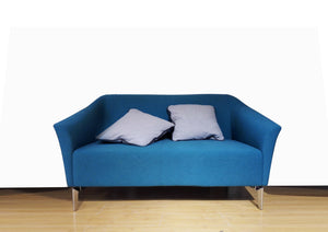 Venice™ Fabric Sofa Chair - 1 or 2 or 3 Seaters Fabric Blue / Charcoal - KiPP