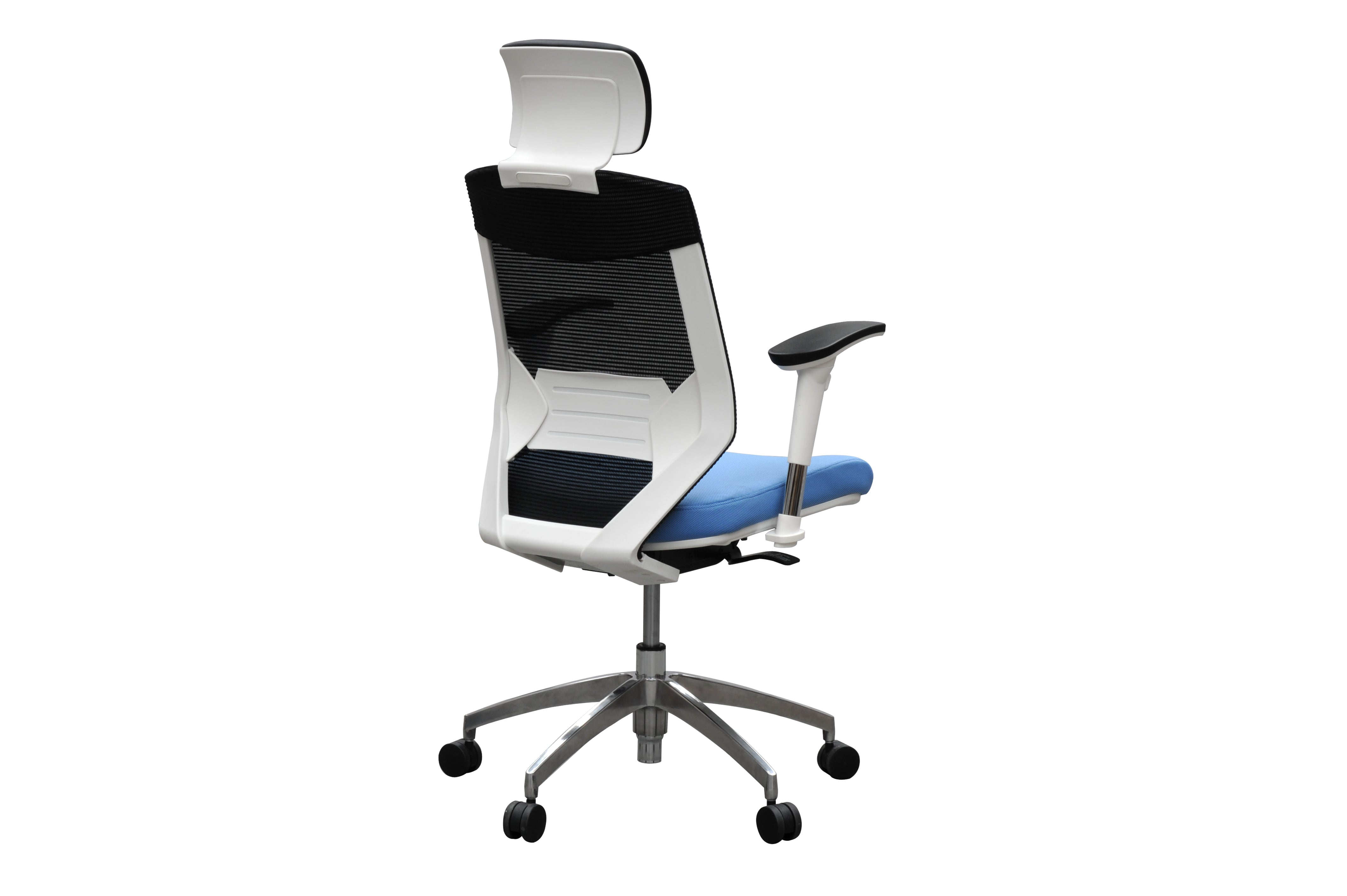 Vogue™ Ergonomic Mesh Back Chair - White Frame High - KiPP