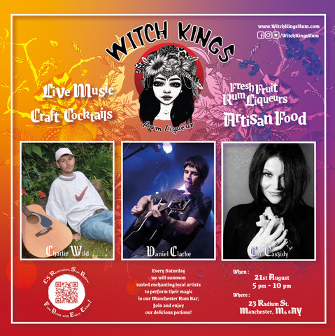 Witch Kings Rum - Live Music - Cat Cassidy, Daniel Clarke, Charlie Wild