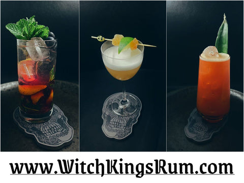 Witch Kings Rum - Fresh Fruit Rum Liqueurs - Voodoo Cocktails Collage - www.witchkingsrum.com