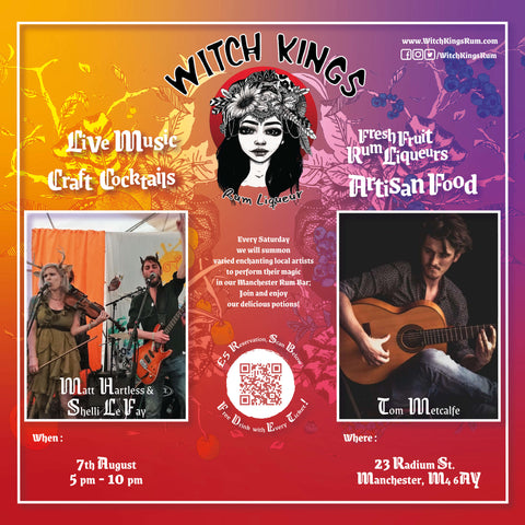 Witch Kings Rum Live Gig - 7th August 2021 - Tom Metcalfe + Matt Hartless and Shelli Le Fay