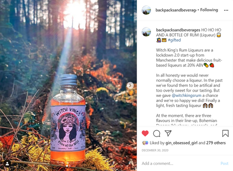 Witch Kings Rum - Review by @backpacksandbeverages