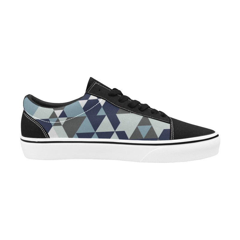 Triangle diamondMen's Lace-Up Canvas Shoes