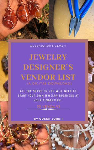 JEWELRY DESIGNER'S VENDOR'S LIST