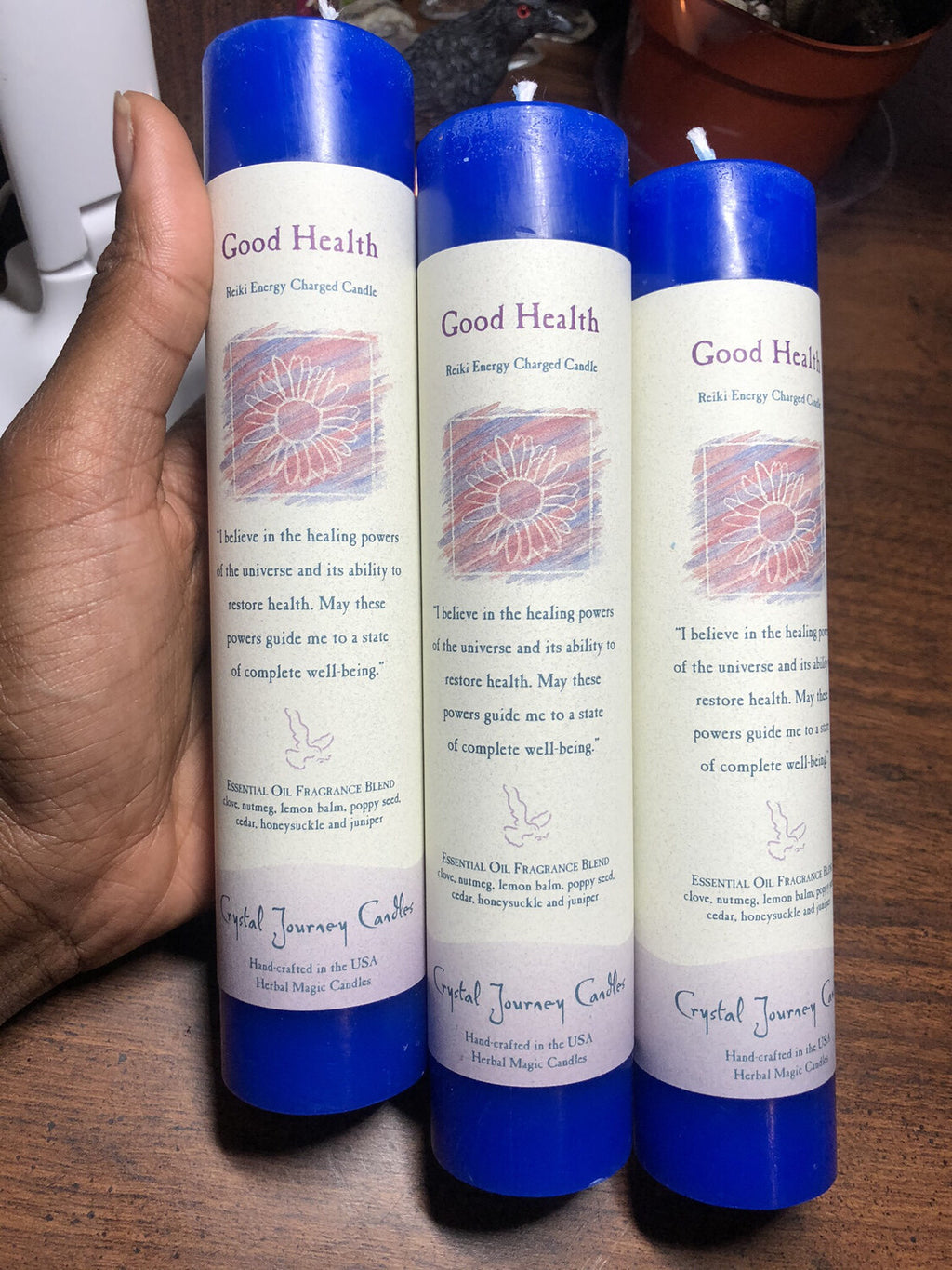 Good Health Crystal Journey Candle