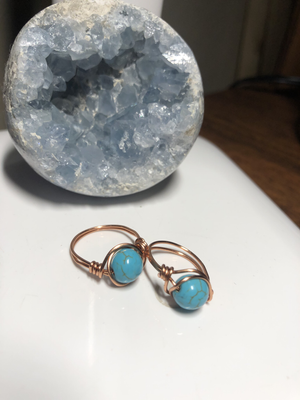 Turquoise & Copper Ring