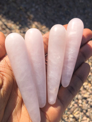 Rose Quartz Round End Yoni / Massage Wand 3.5""
