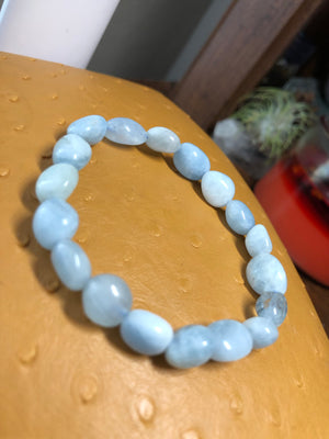 Simple Aquamarine Bracelet