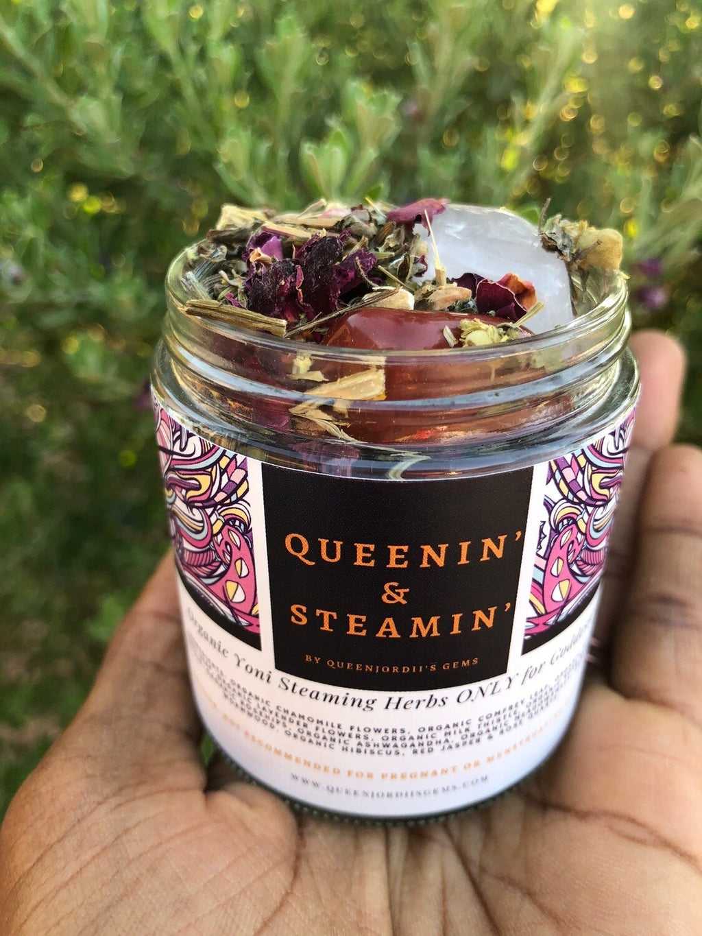 Queenin' & Steamin' Organic Yoni Steaming Herbs Only For Goddesses (4oz)