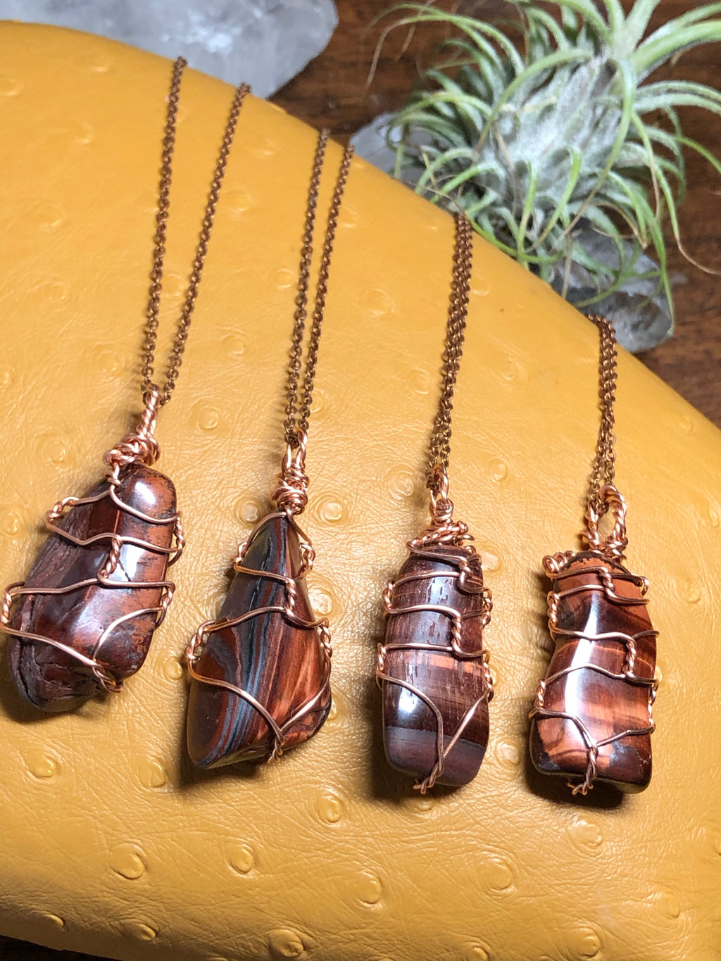 Red Tiger's Eye & Copper Necklace