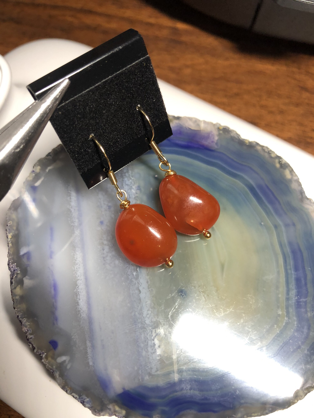 Dainty Carnelian Earrings