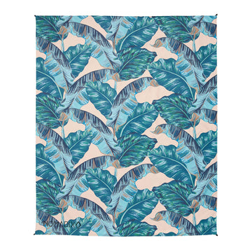 Decke Banana Leaf Teal