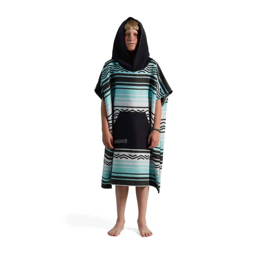 Youth Poncho Baja Aqua