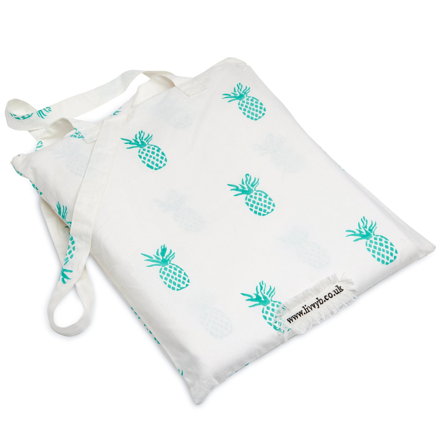 Pineapple Duvet Cover and Pillow Set Aqua