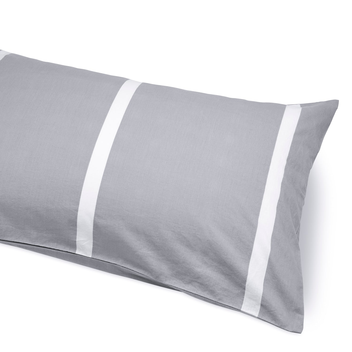 Scandi Grey Thick Striped Duvet Cover and Pillow Sets