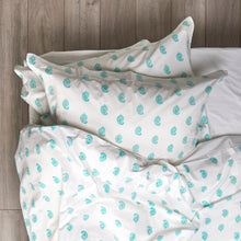 Load image into Gallery viewer, Paisley Duvet Cover and Pillow Set Aqua
