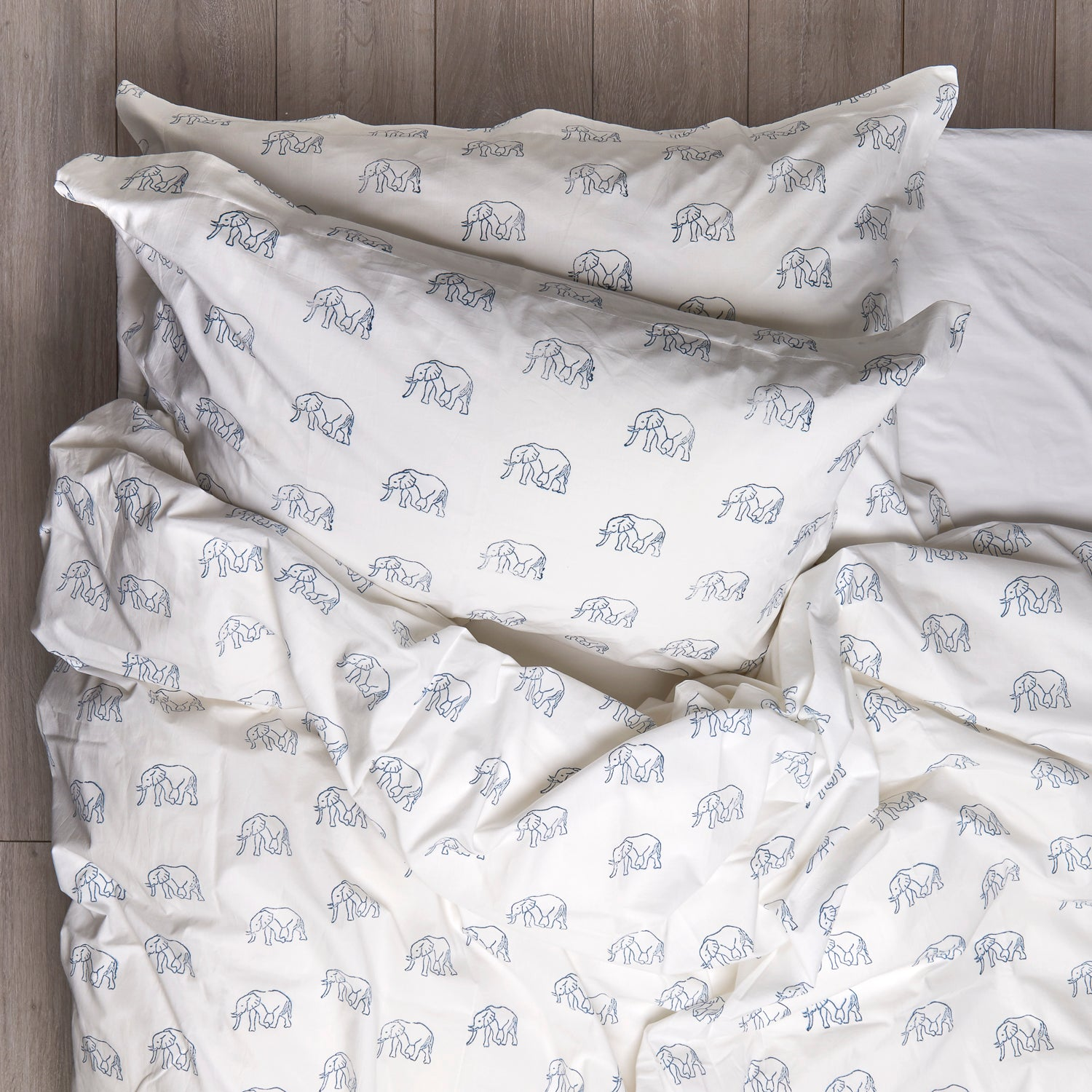 Elephant Duvet Covers and Pillow Set Blue