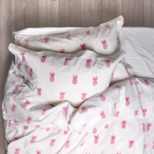Load image into Gallery viewer, Pineapple Duvet Covers and Pillow Set Hot Pink