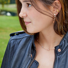 Load image into Gallery viewer, Lucky Star Earring in Rose Gold with Zirconia