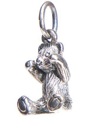 Sterling Sitting Bear Charm