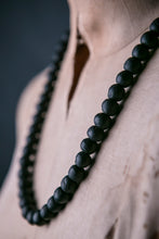 Load image into Gallery viewer, Recycled Glass Bead Necklace - Black