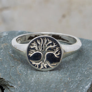 Tree Of Life Signet Silver Ring