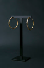 Load image into Gallery viewer, Diamond Slice Vermeil Large Hoop Earrings