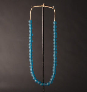 Recycled Glass Bead Necklace - turquoise
