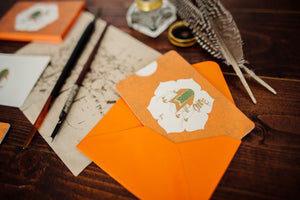 6 Camel Motif Notecards