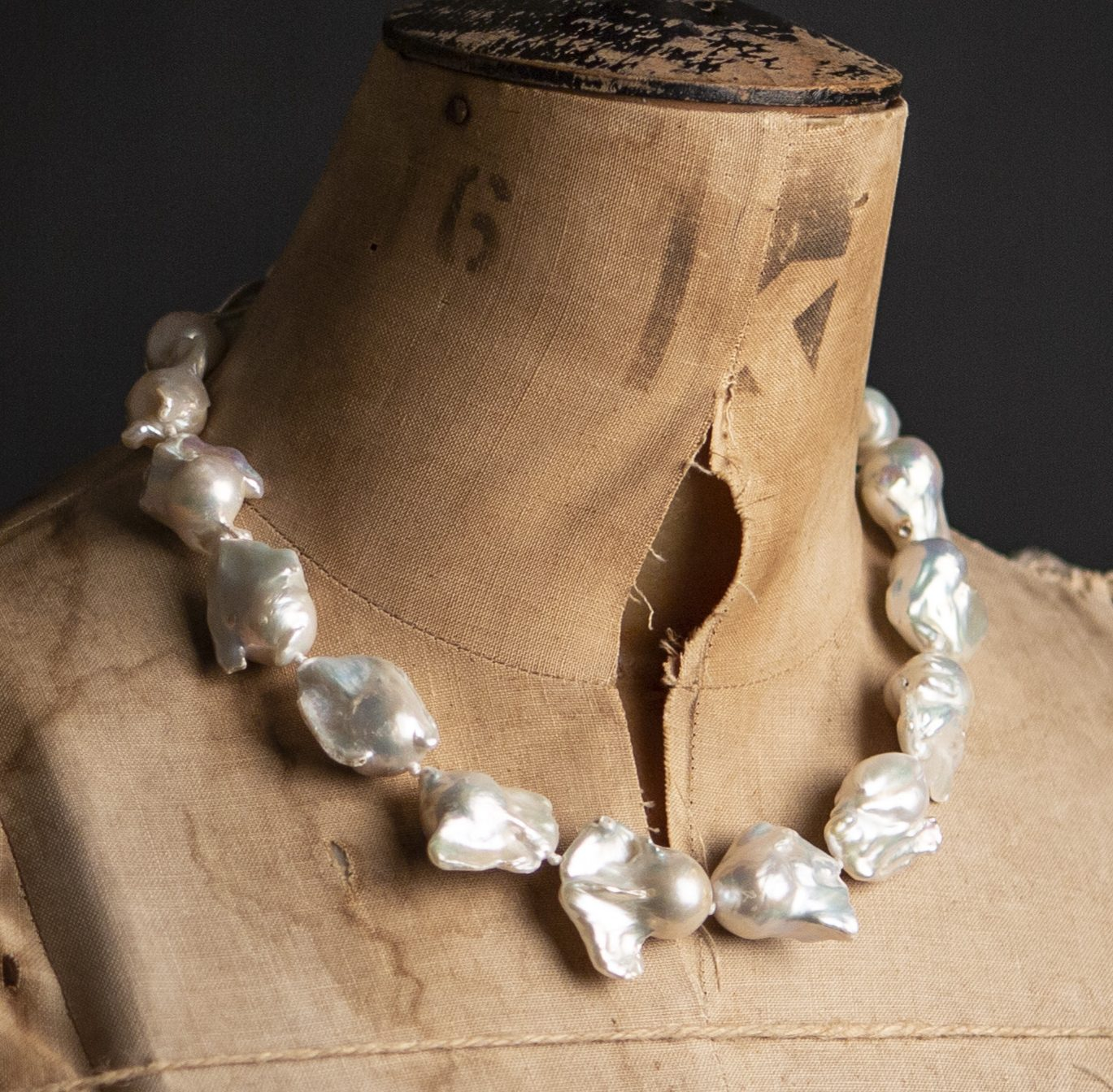 Giant Baroque Pearl Necklace