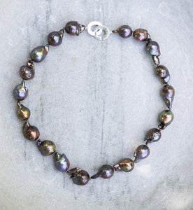 Giant Baroque peacock Pearl Necklace