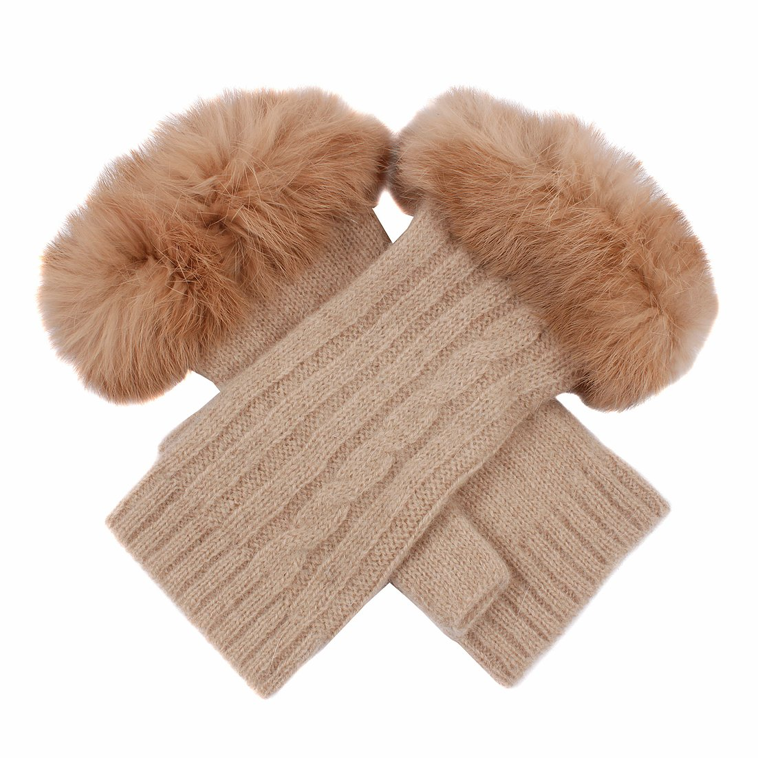 Dents fingerless gloves, oatmeal
