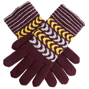 Dents knitted glove with chenille lining, plum
