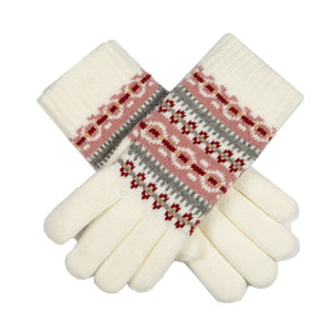 Dents Apre's ski gloves, white