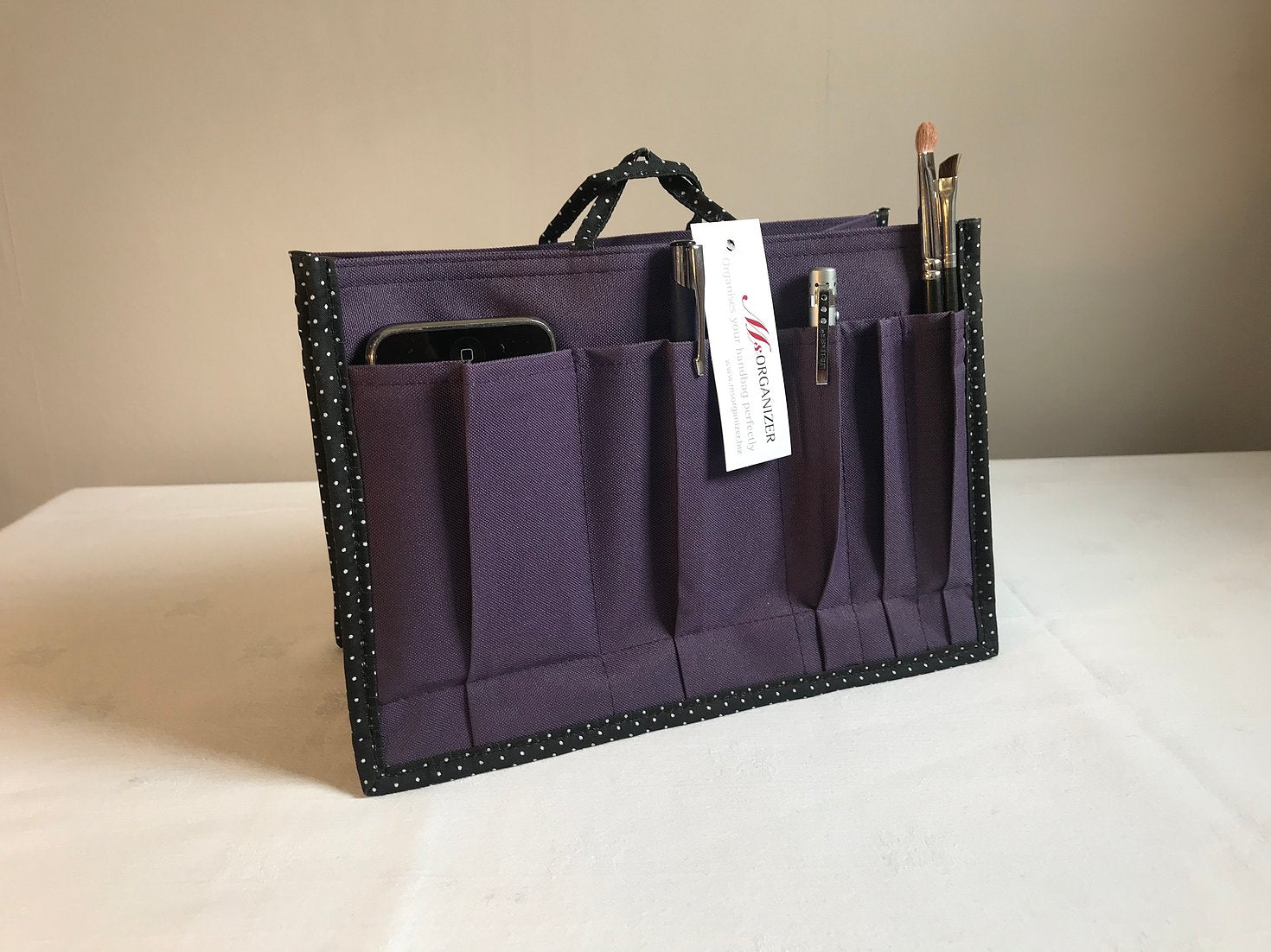Ms Organizer, Handbag organiser, purple
