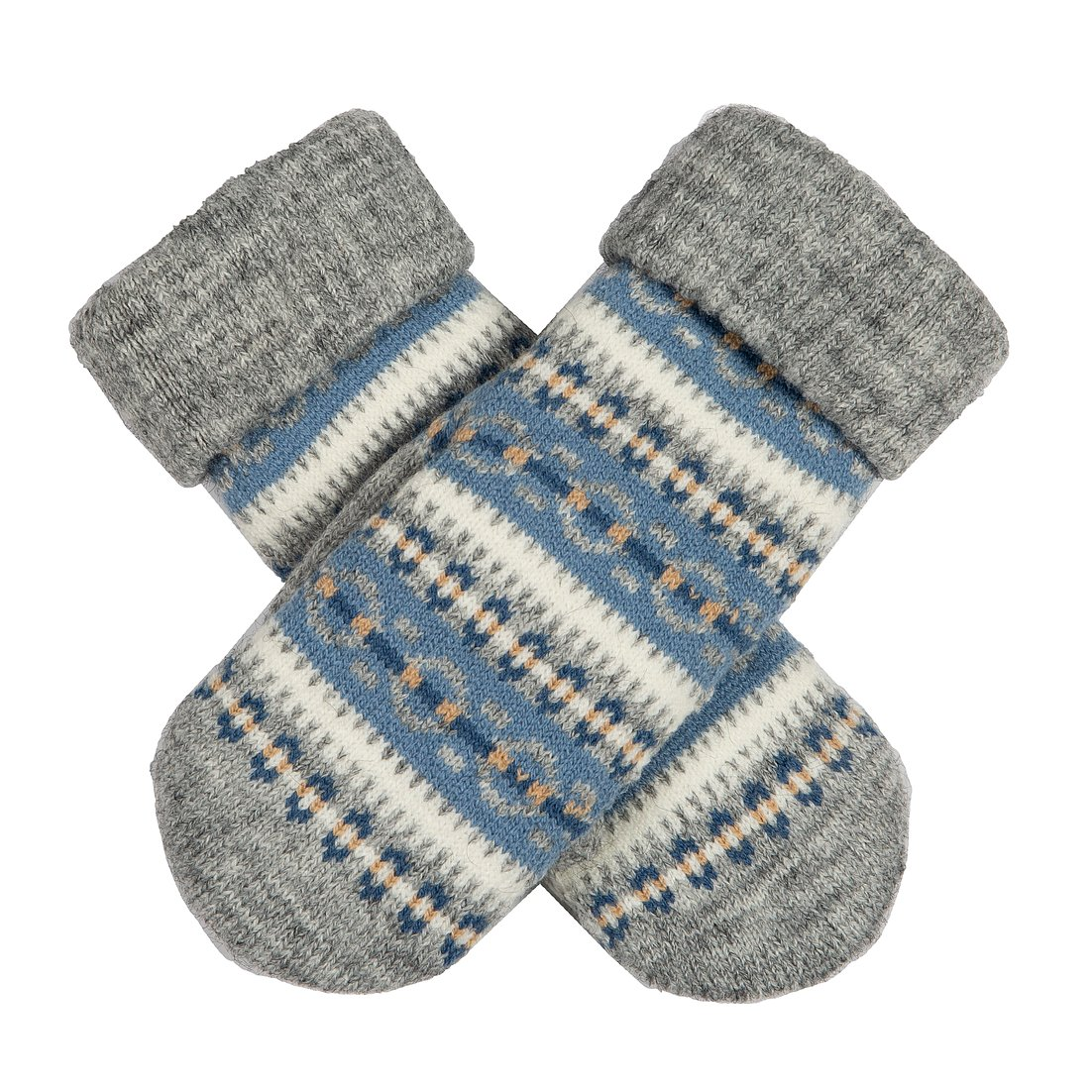 Dents knitted Apre's ski mitten, grey