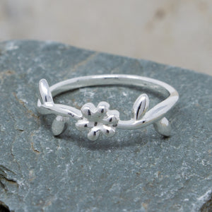 Delicate Flower Stacking Ring