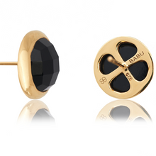 Load image into Gallery viewer, MACARON STUD EARRINGS IN LIQUORICE